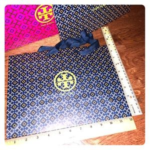 Tory Burch gift bags and boxes